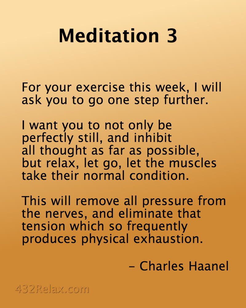 Meditation Exercise 3 from the Master Key System - #432Relax