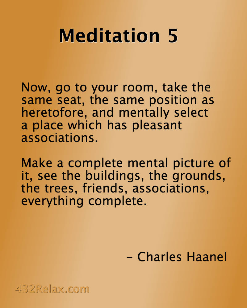 Meditation Exercise 5 from the Master Key System - #432Relax