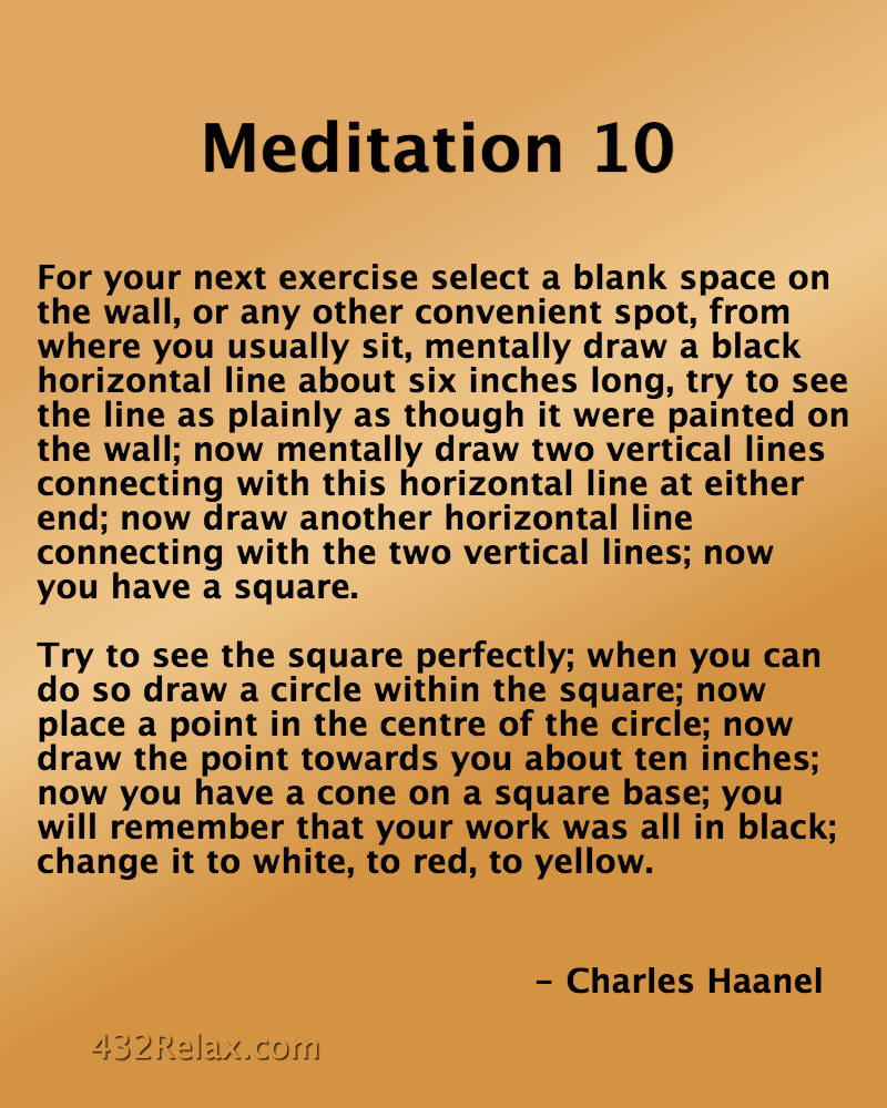 Meditation Exercise 10 from the Master Key System - #432Relax