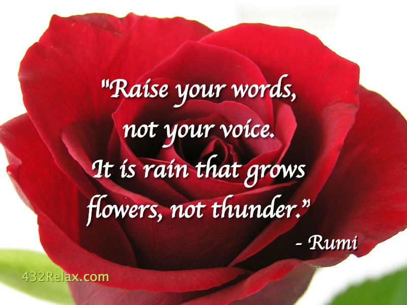 Raise Your Words, Not Your Voice -Rumi