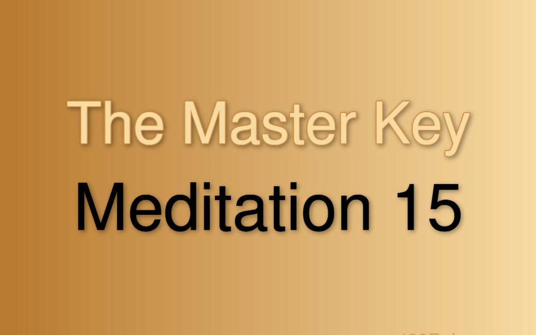 Meditation Exercise 15