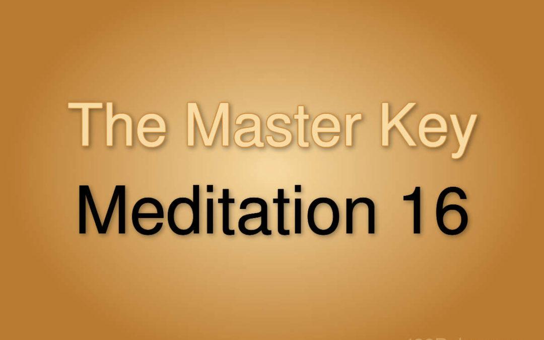 Meditation Exercise 16
