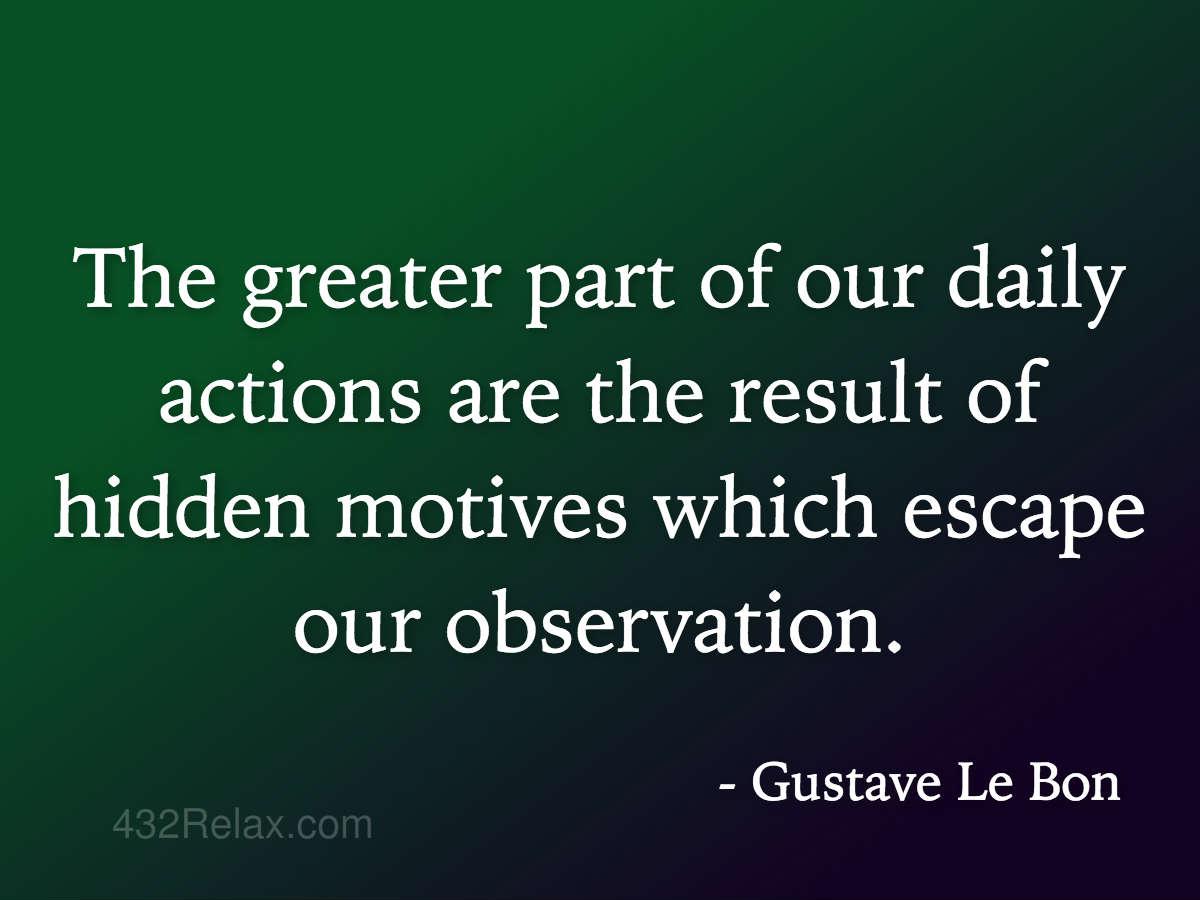 Gustave Le Bon Hidden Motives 432relax Com